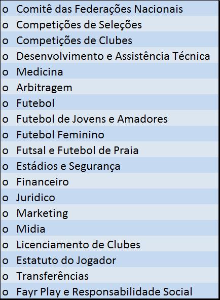 comitês UEFA