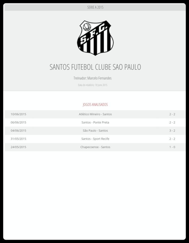 Santos - Jogos Analisados 19-06