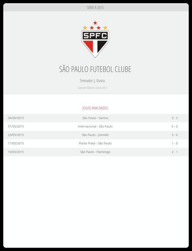 São Paulo - Jogos Analisados 06-06