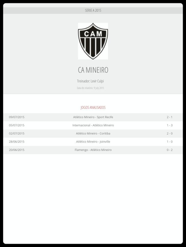 Atlético - Jogos Analisados 10-07