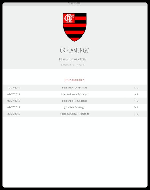 Flamengo - Jogos Analisados 17-07