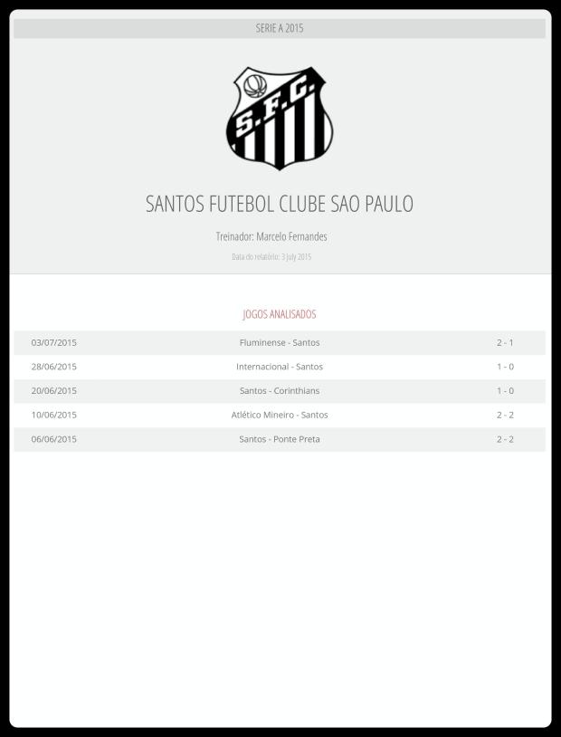 Santos - Jogos Analisados 04-07