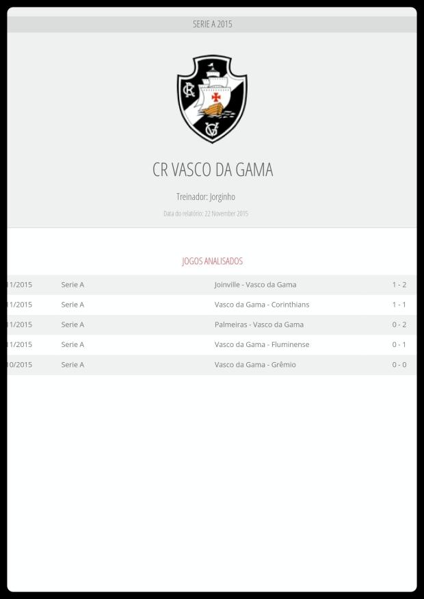 Vasco Jogos Analisados - 28-11