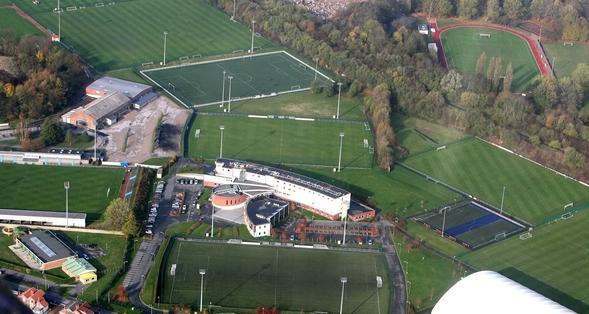 12/11/2009 - Ablain St Nazaire - Vues aeriennes - Le centre technique et sportif du RC Lens, La Gaillette. Photo Delphine Pineau La Voix du Nord